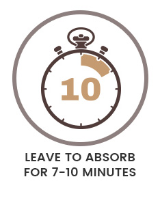 Leave to absorb for 7-10 minutes
